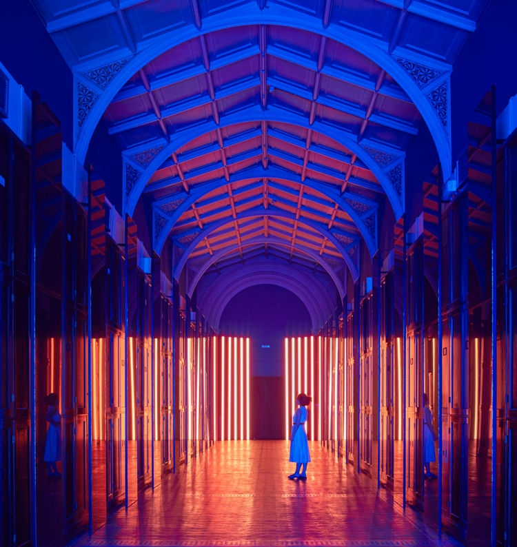 Room-Transforming Light Installations