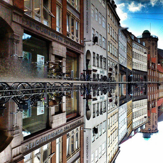 Mirrored Cityscape Photographs