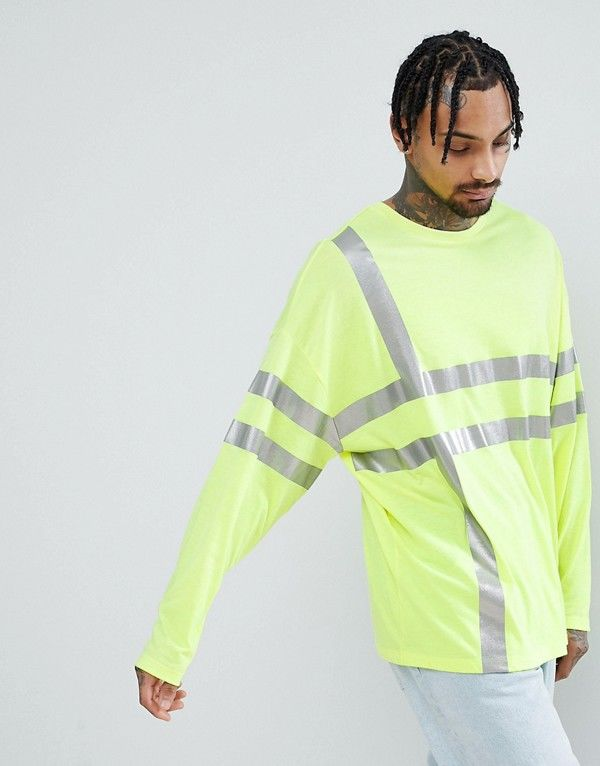 Comfy Oversized Reflective Shirts
