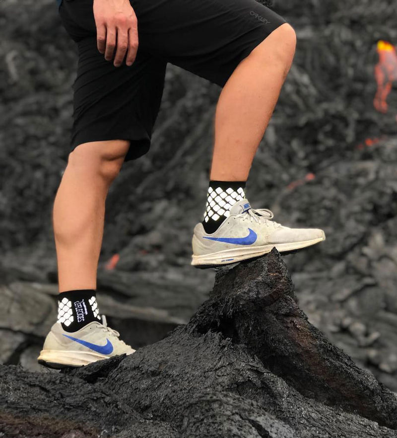Technical Visibility-Enhancing Socks