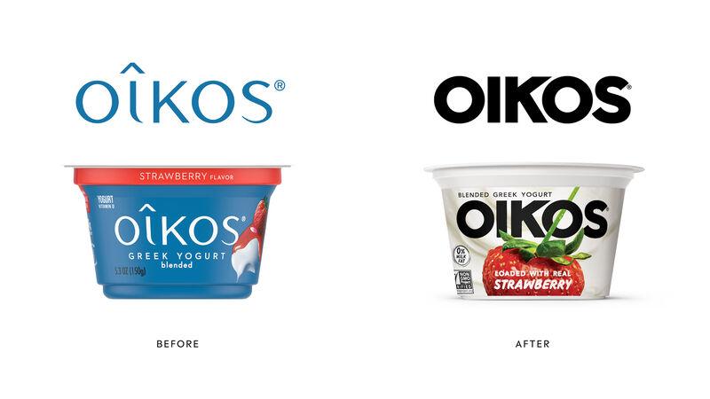 Refreshed Greek Yogurt Packaging