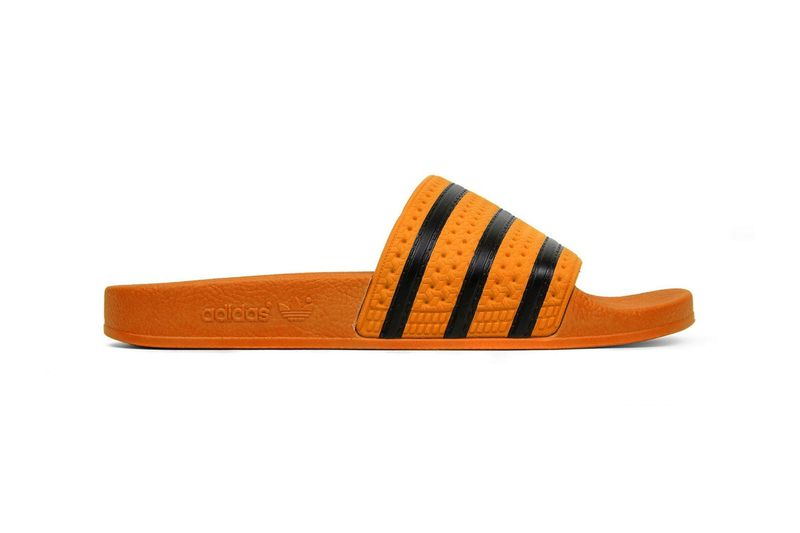 Vibrant Orange Slide Shoes