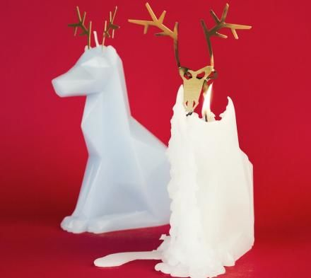 Skeletal Christmas Candles