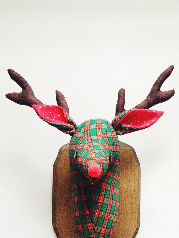 Tartan Reindeer Decor