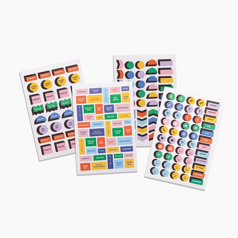 Graphic Schedule Stickers
