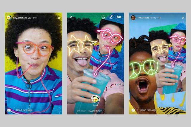 Selfie-Remixing Messaging Features