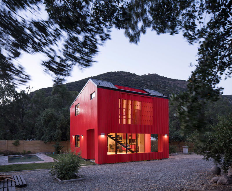 Boldly Colored Remote Dwellings