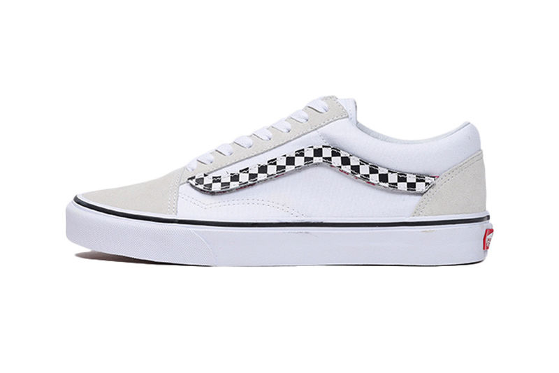 Checker-Detailed Casual Sneakers