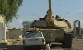 Renegade US Soldiers Use Tank to Crush Iraqi Car