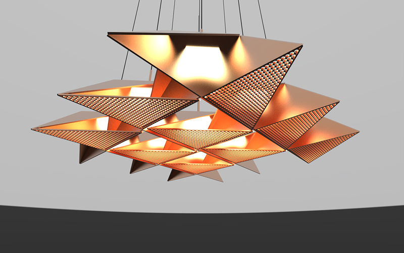 Metallic Origami Lights