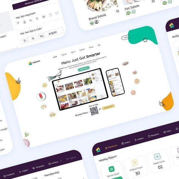 Insights-Focused Dining Menu Apps