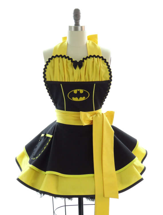 Superhero-Inspired Retro Aprons