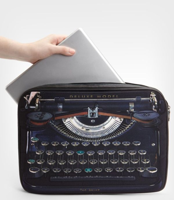 Typewriter-Printed Tech Covers