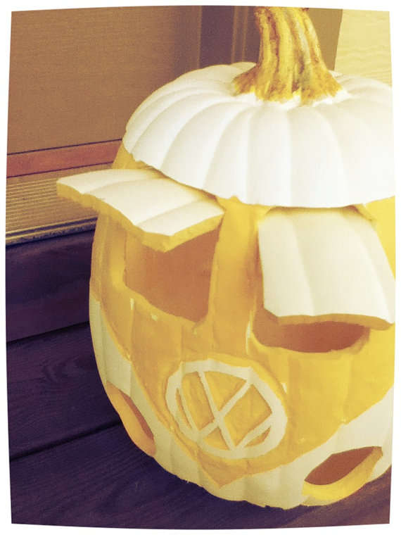 Hippie Inspired Jack O Lanterns Retro Pumpkin