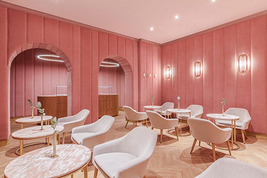 Millennial Pink Pastry Shops