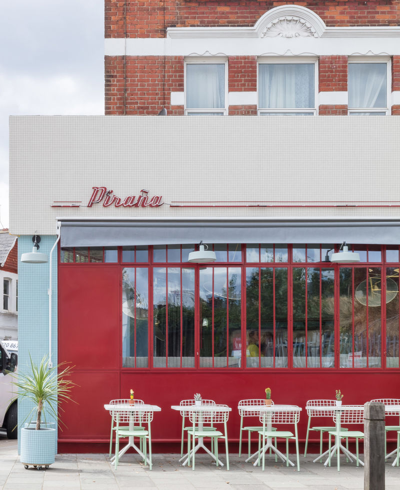 Red-Accented Retro-Themed Diners