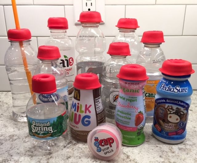 Spill-Proof Bottle Caps
