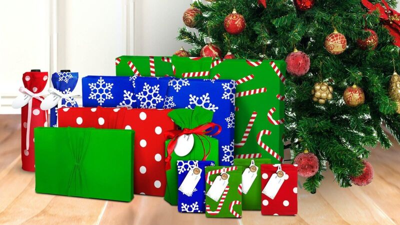 Stretching Reusable Wrapping Paper