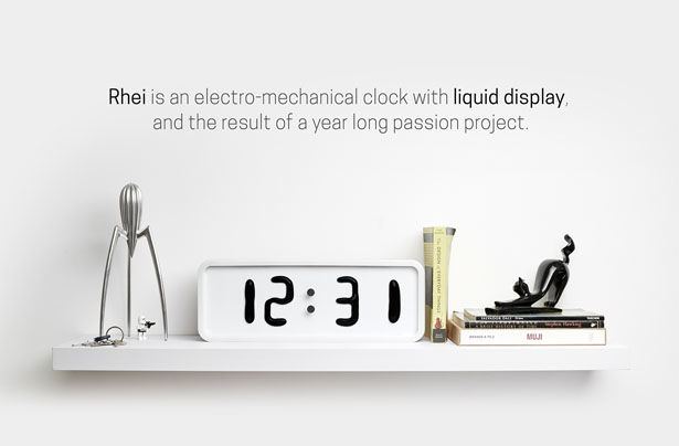 Electric Liquid Clocks