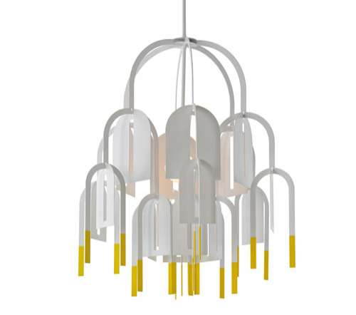 Contemporary Paper-Like Chandeliers