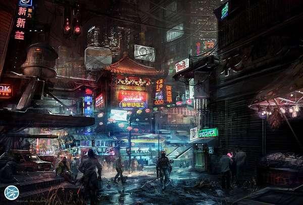 Futuristic Cityscape Renderings
