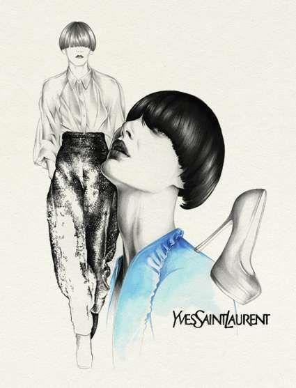 Surreal Fashion Drawings