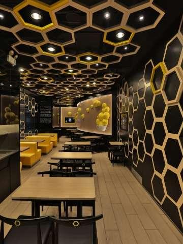 Hexagonal Honeycomb Restaurants Rice Home By As Design