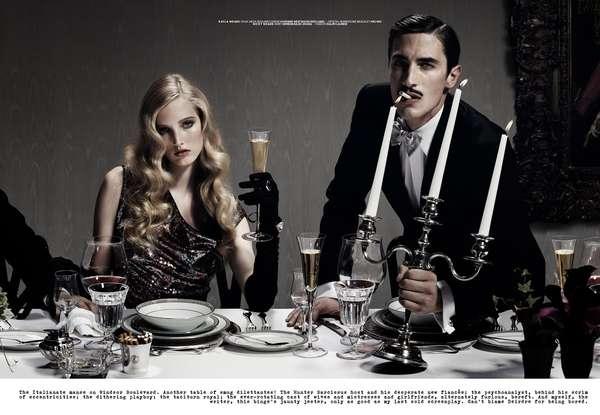 Scandalous Dinner Party Shoots