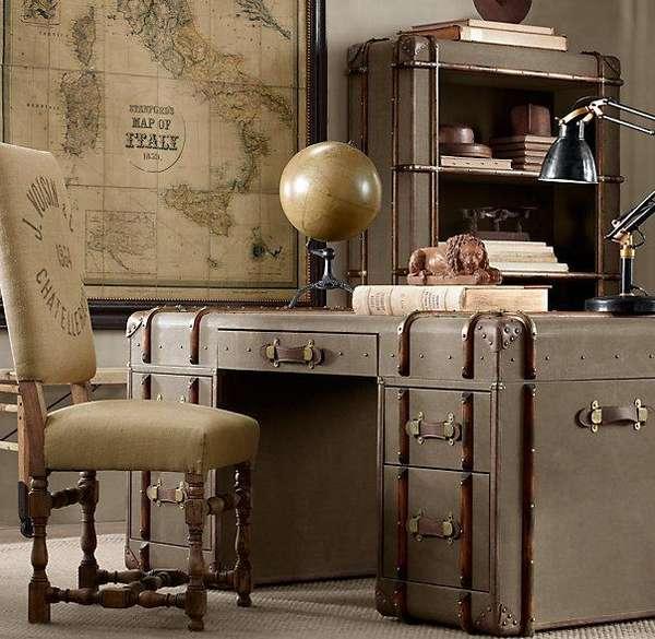 Steampunk Luggage Bureaus