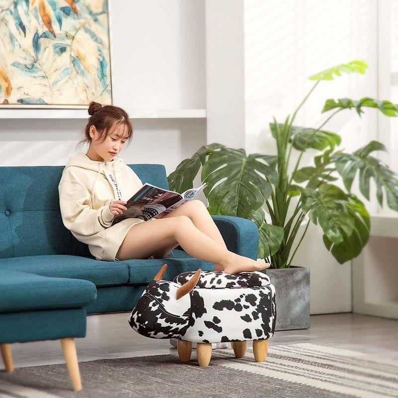 animalistic living room stools  rideon ottoman footrest