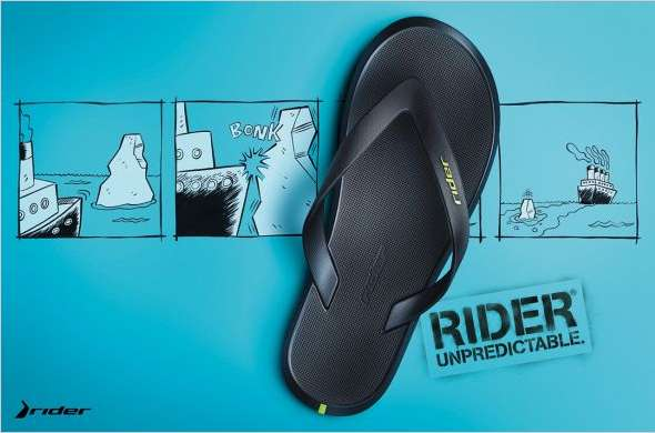 10a512910afa Unpredictable Footwear Ads   Rider Sandals Campaign