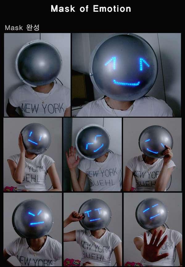Emoticon Helmets to Hide Your Feelings