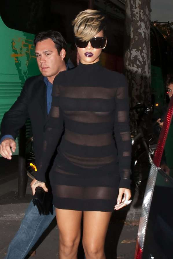 Agree, Rihanna see through paris
