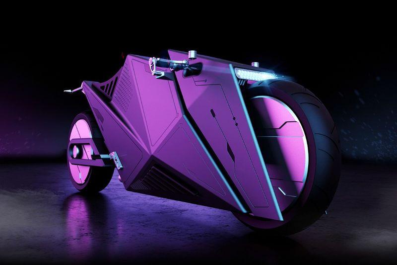 Low-Slung Geometric Motorcycles