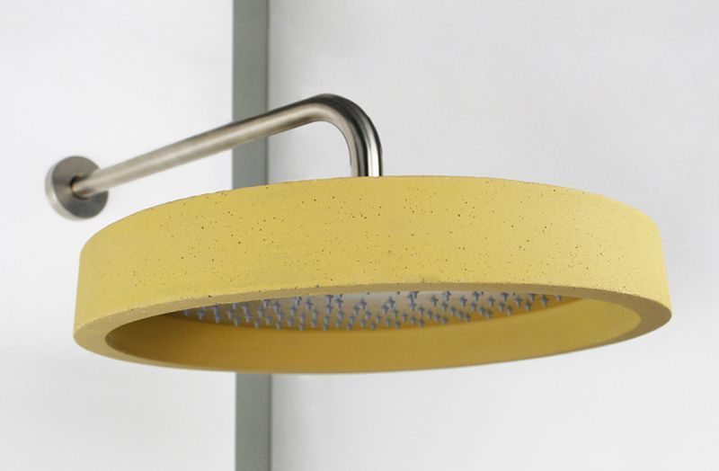 Chromatic Concrete Shower Heads