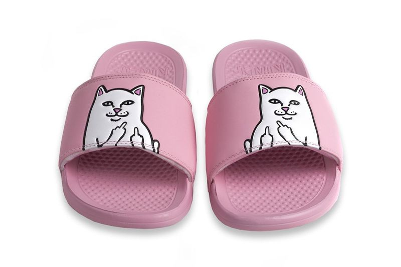 Playful Cat Emblazoned Sandals Ripndip