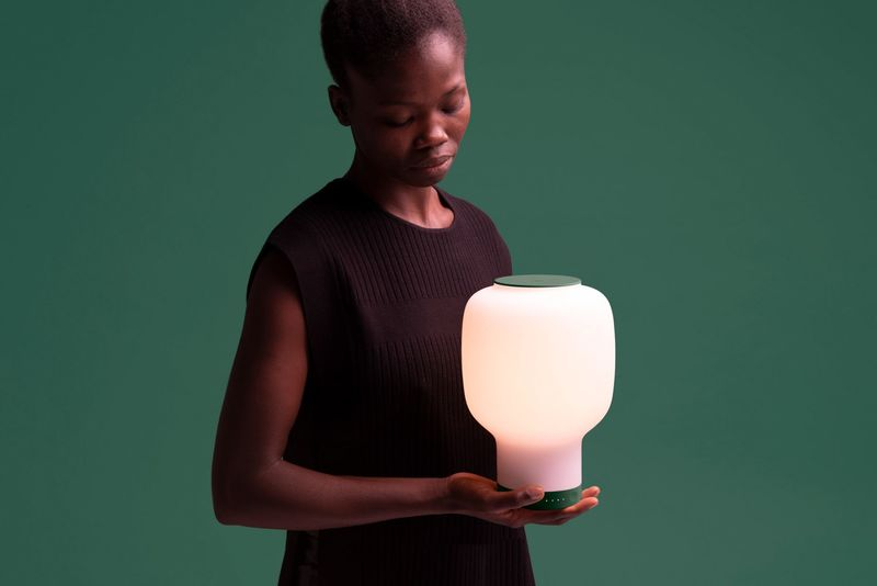 Hand Blown Tech-Infused Lamps