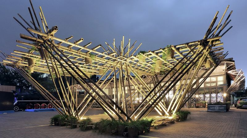 Bamboo Cane Pavilions