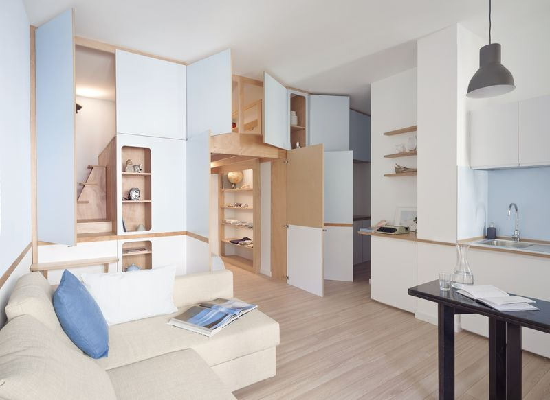 Compartmentalized Apartment Interiors