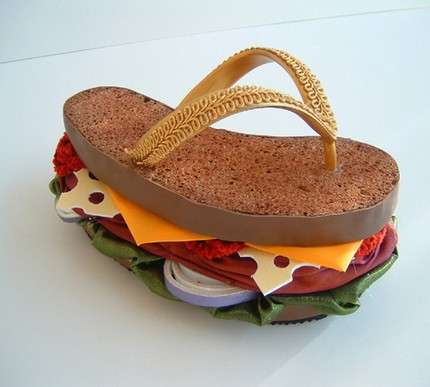 Sculptural Burger Sandals