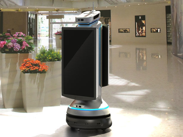 Interactive Airport Robot Kiosks
