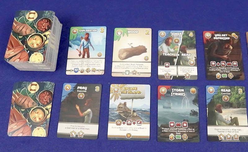 Marooned Survivalist Card Games