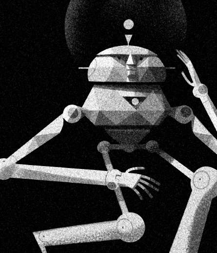 Dotted Robotic Illustrations