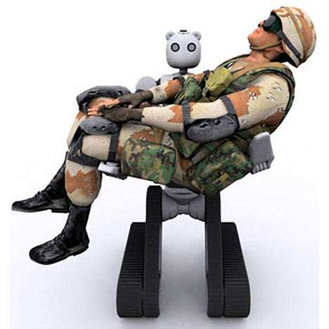 BEAR Robot Can Pick Up and Rescue Soldiers