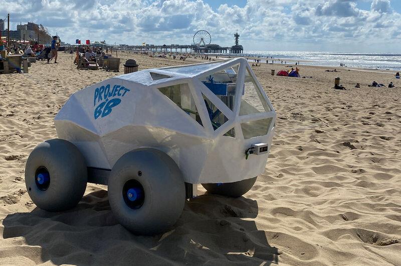 AI-Powered Beach Cleanup Robots