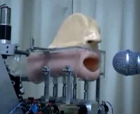 Human Voice Robots : robotic mechanical mouth