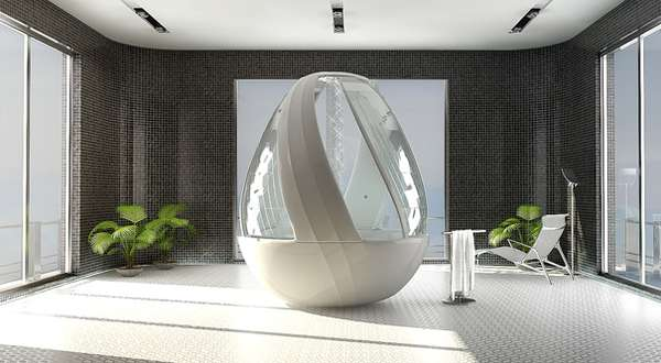 Egg-Shaped Showers: The Roca Cocoon Shower Stall is Luxury in an ...