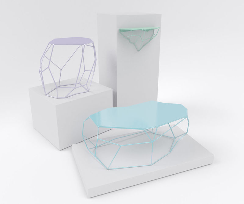 Delicately Faceted Furniture