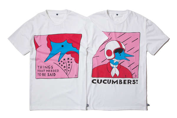 Saturated Hand-Drawn Apparel