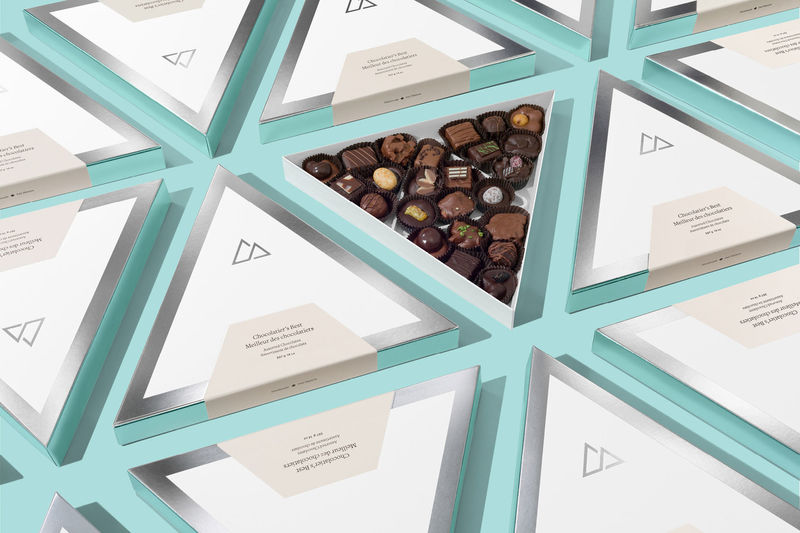 Re-Branded Chocolate Packaging